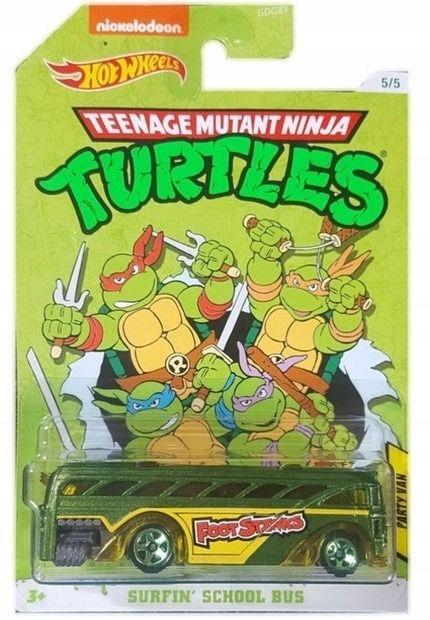 Żółwie Ninja Turtles Bus Party Van Hot Wheels