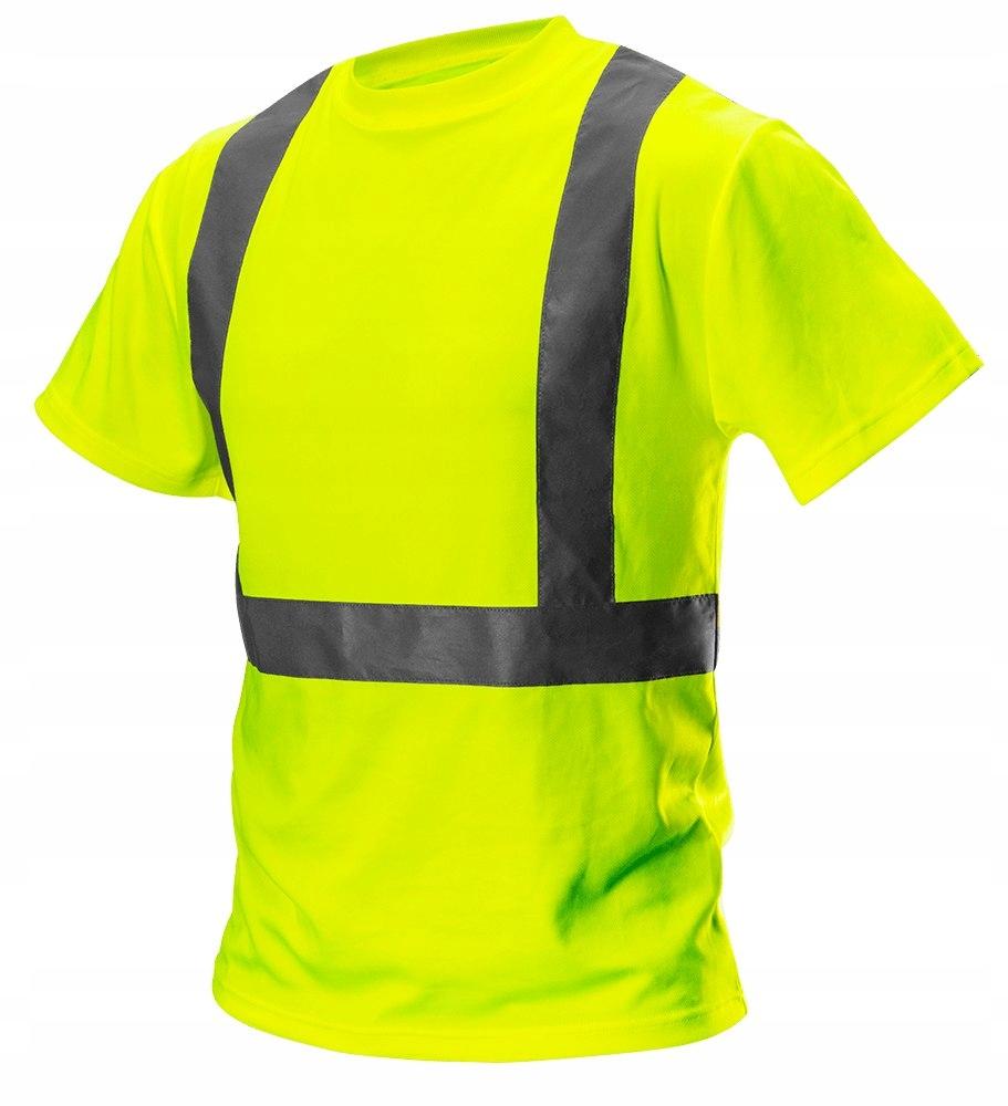 T-shirt ostrzegawczy, żółty, rozmiar XL