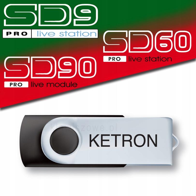 Pendrive USB KETRON AUDYA Style Vol1 SD9 SD90 SD60