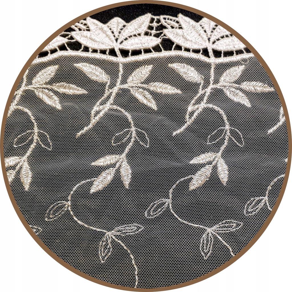 Koronka biała, haft szer.20 cm
