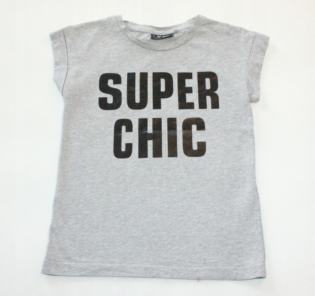 Bluzka NEXT napis Super Chic r. 116 5-6 l