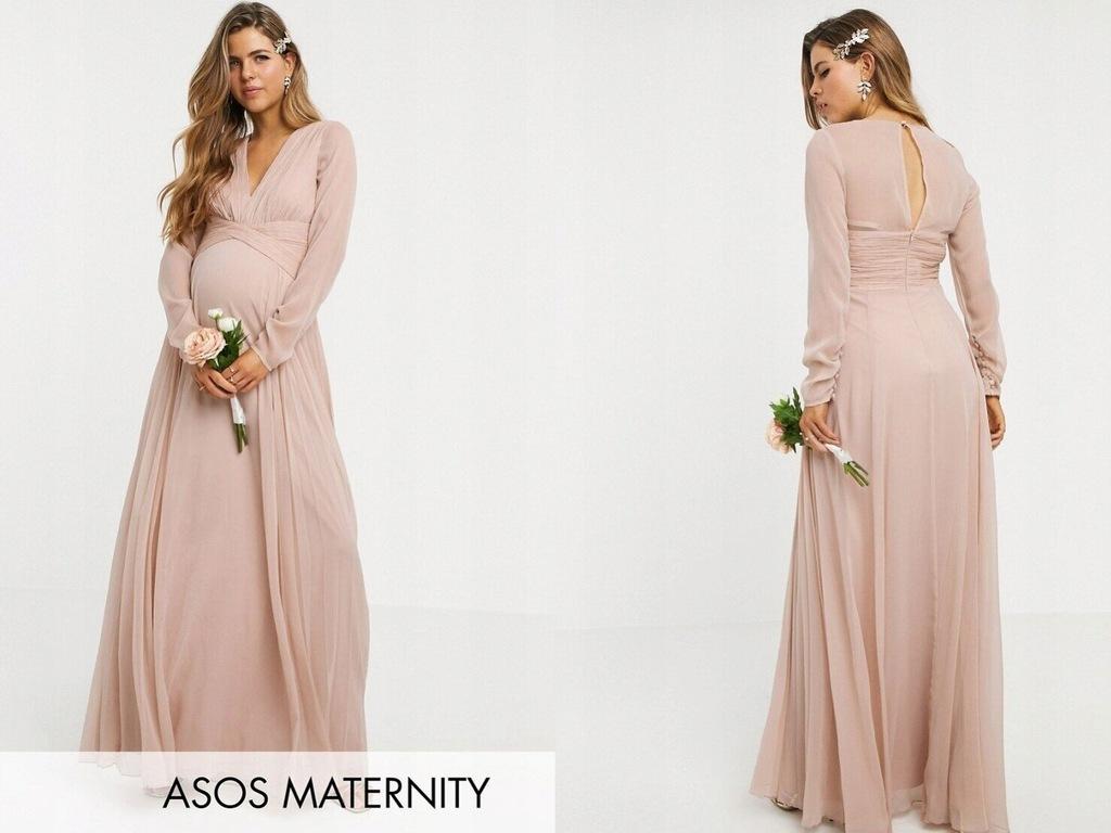 DESIGN Maternity Szyfonowa maxi sukienka XXL/44