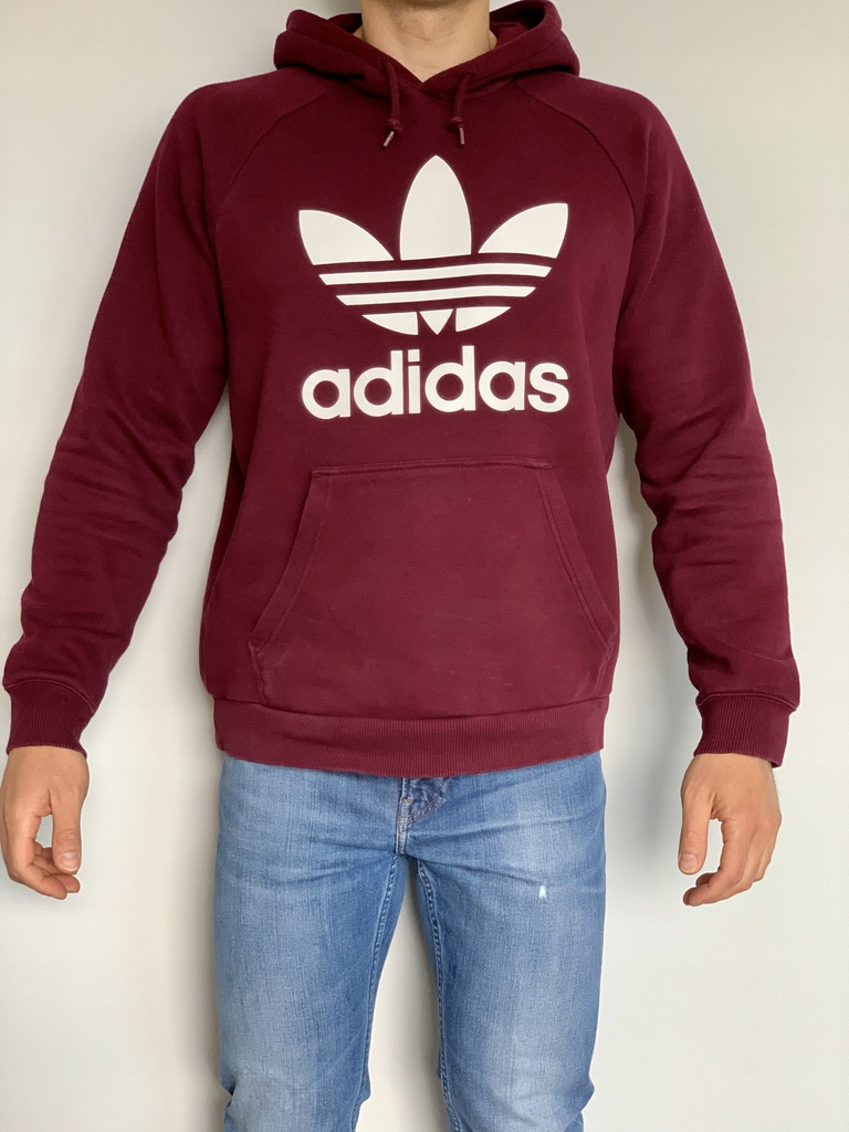Bluza męska Trefoil Crew Adidas Originals bordowa