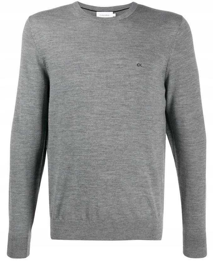 Calvin Klein sweter K10K104906 P9V szary M