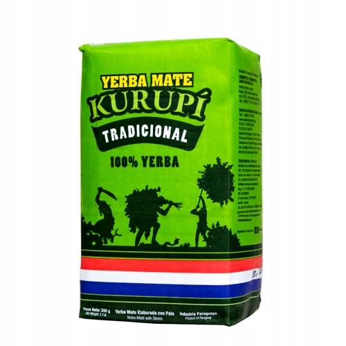 Yerba Mate Kurupi Tradicional Elaborada 0,5kg 500g