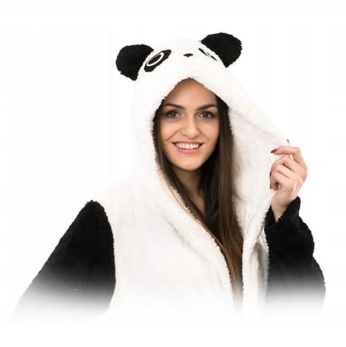Ciepły pluszowy szlafrok damski męski panda S GAT