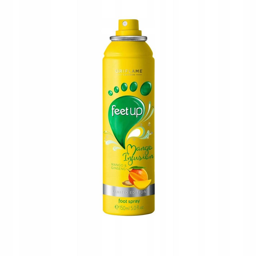 Spray do stóp z mango i żeń-szeniem Feet Up Mango