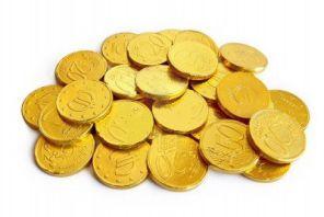 Monety czekoladki Eurocenty 10szt Czekolada Włoska