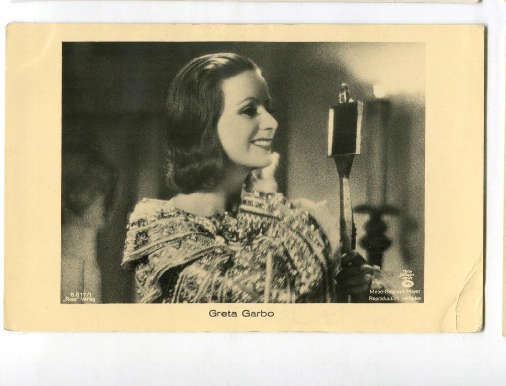 Greta Garbo Kino Film Aktorka Foto Pocztówka 6