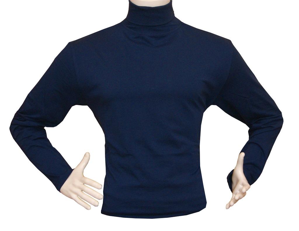 Golf męski bawełniany Sweter Rozmiar L niebieski