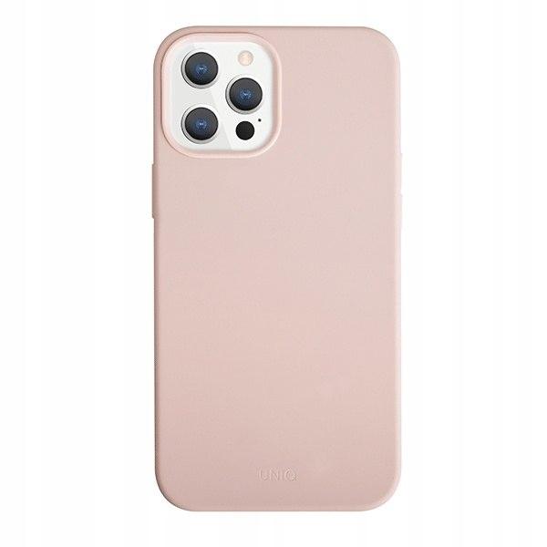 UNIQ etui Lino Hue Apple iPhone 12/12 Pro różowy/b