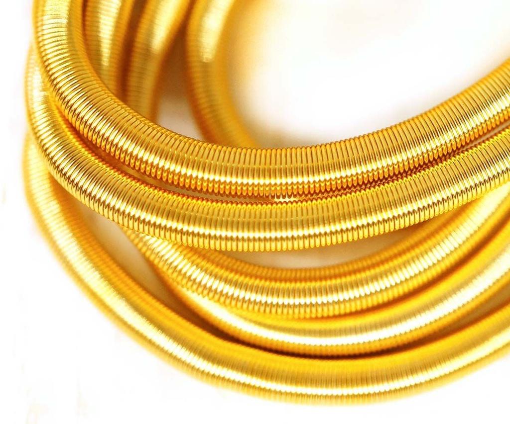 10g genialny żółtego złota okrągły gładki