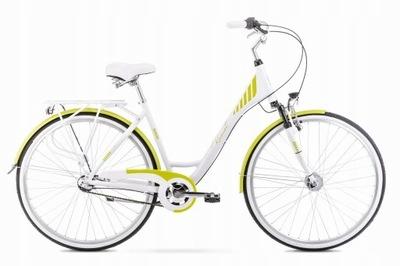 Rower ROMET ART DECO 3 biało-zielony 19 L MIELEC