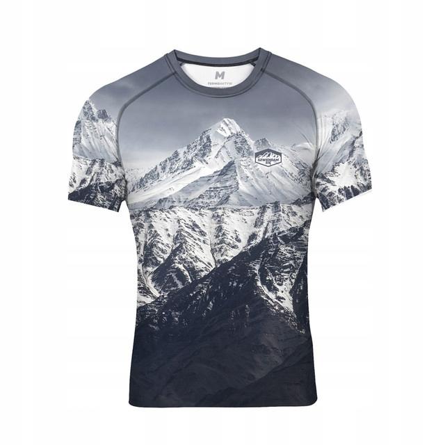 Koszulka wspinaczka oddychająca termo GÓRY szara S