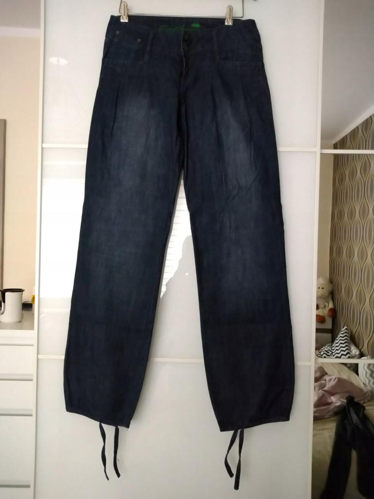 spodnie jeansowe męskie szerokie nogawki reserved