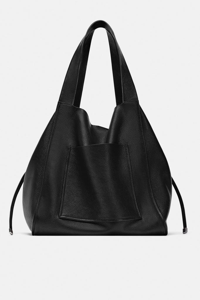 Zara skórzana torba typu shopper 7898813311 oficjalne