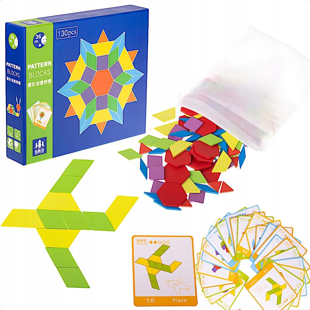 Puzzle drewniane układanka Montessori 155el.