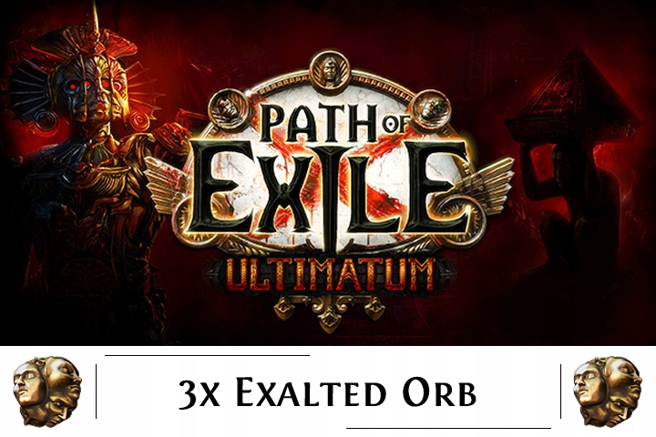 Path of Exile Ultimatum SC 3x Exalted Orb [PC]