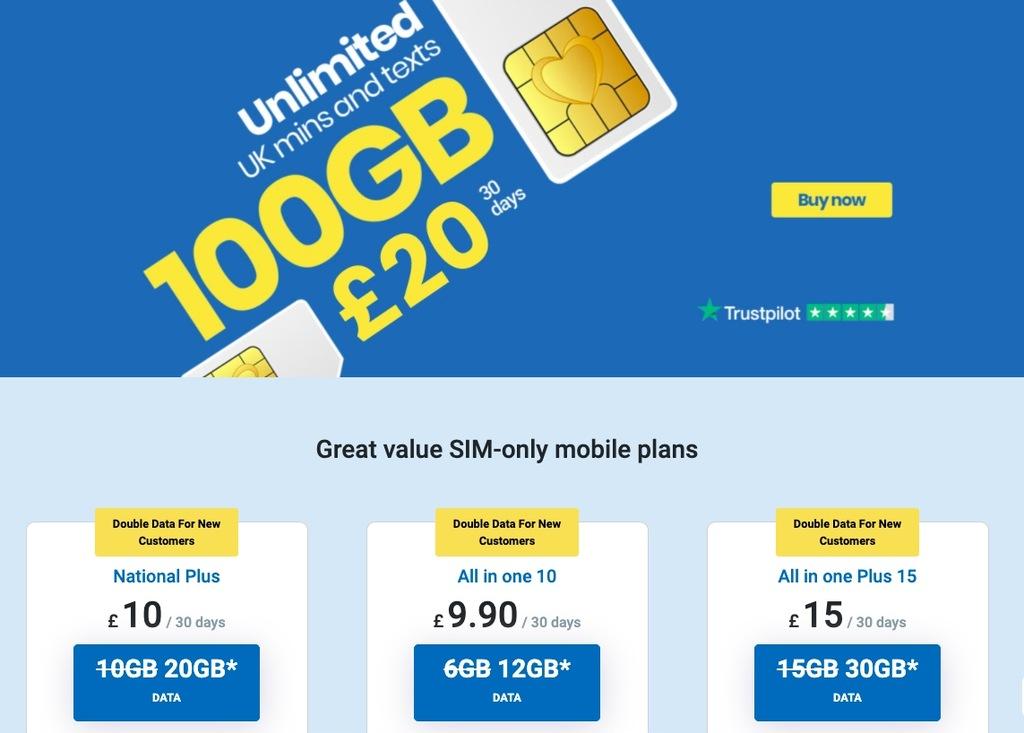 LycaMobile UK +44 Starter England Prepaid SIM Card