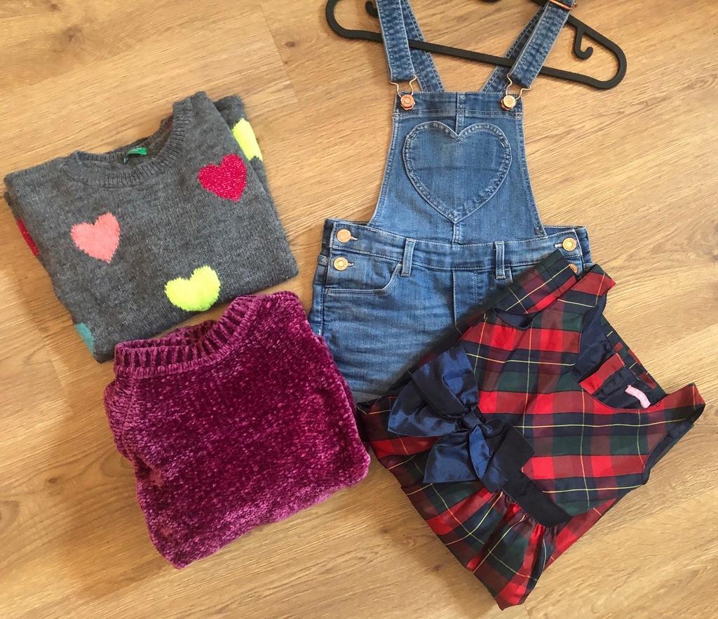 Zestaw ubrań dla dziewczynki 134 zaraz benetton