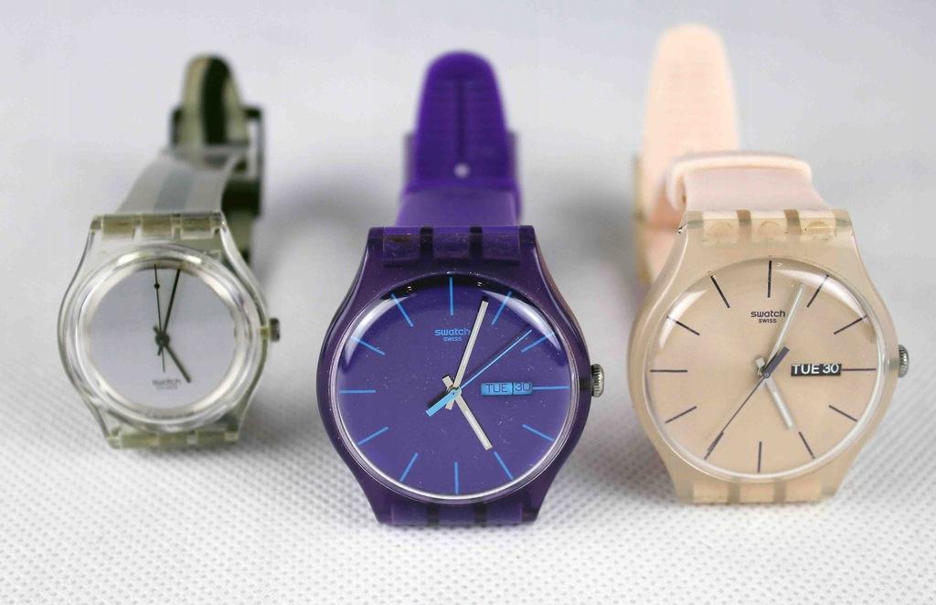Swatch - 3 zegarki - okazja.