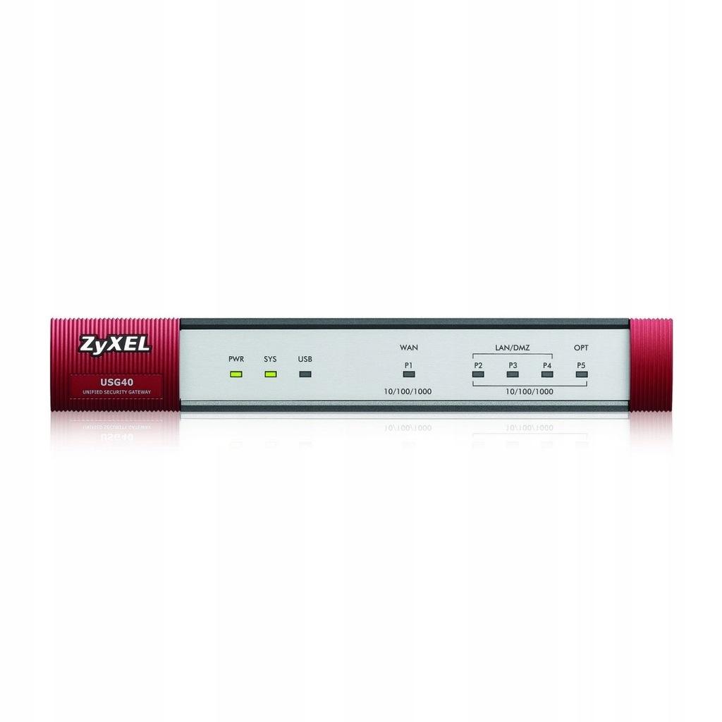 ZyWALL USG40 VPN Firewall 1xWAN 3xLAN/DMZ 1xUSB