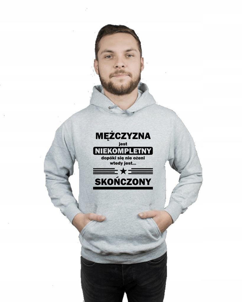 Bluza męska kangur NIEKOMPLETNY MĘŻCZYZNA r S