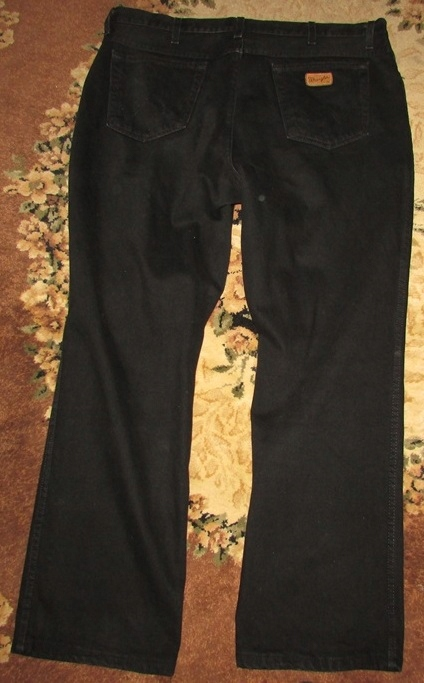 wrangler czarne XXL spodnie