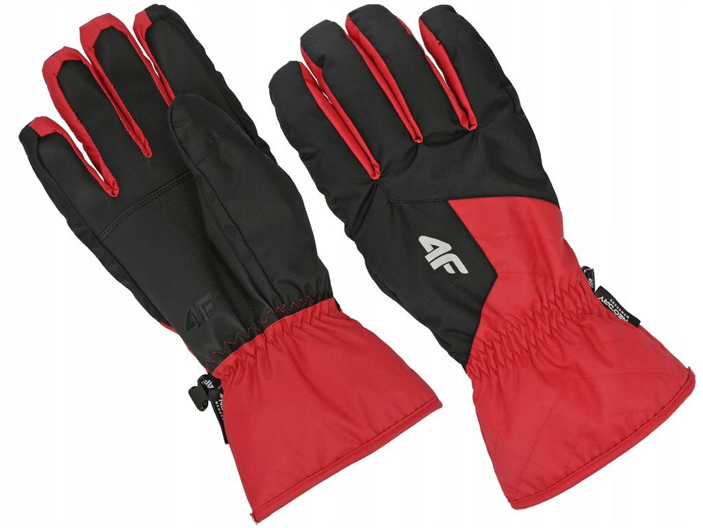 Rękawiczki 4F narciarskie 19 REM001 czerwone S