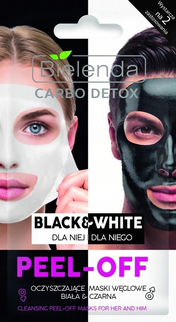 BIELENDA Carbo Detox Maska peel-off Black&Whit