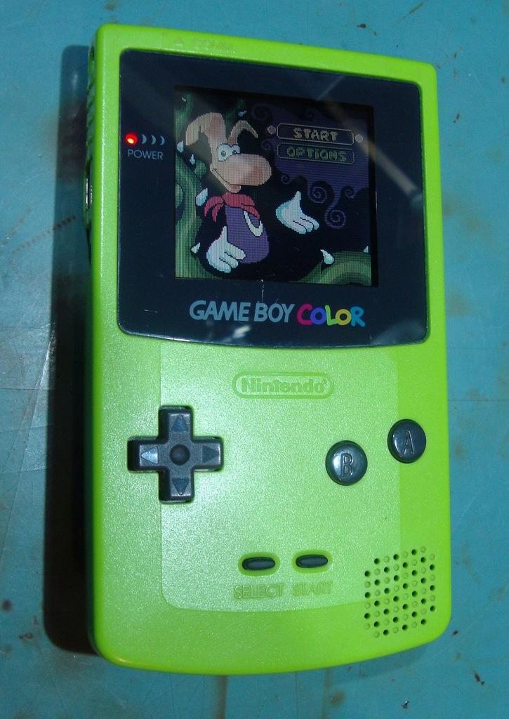 Game Boy Color Zielony ładny sprawny GBC