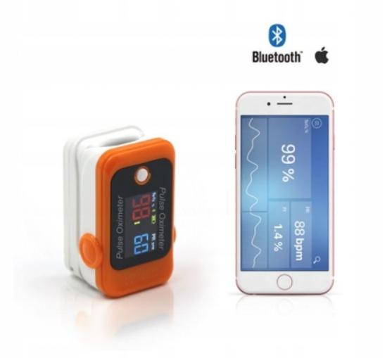 Pulsoksymetr Napalcowy Berry Bluetooth Medyczny PL