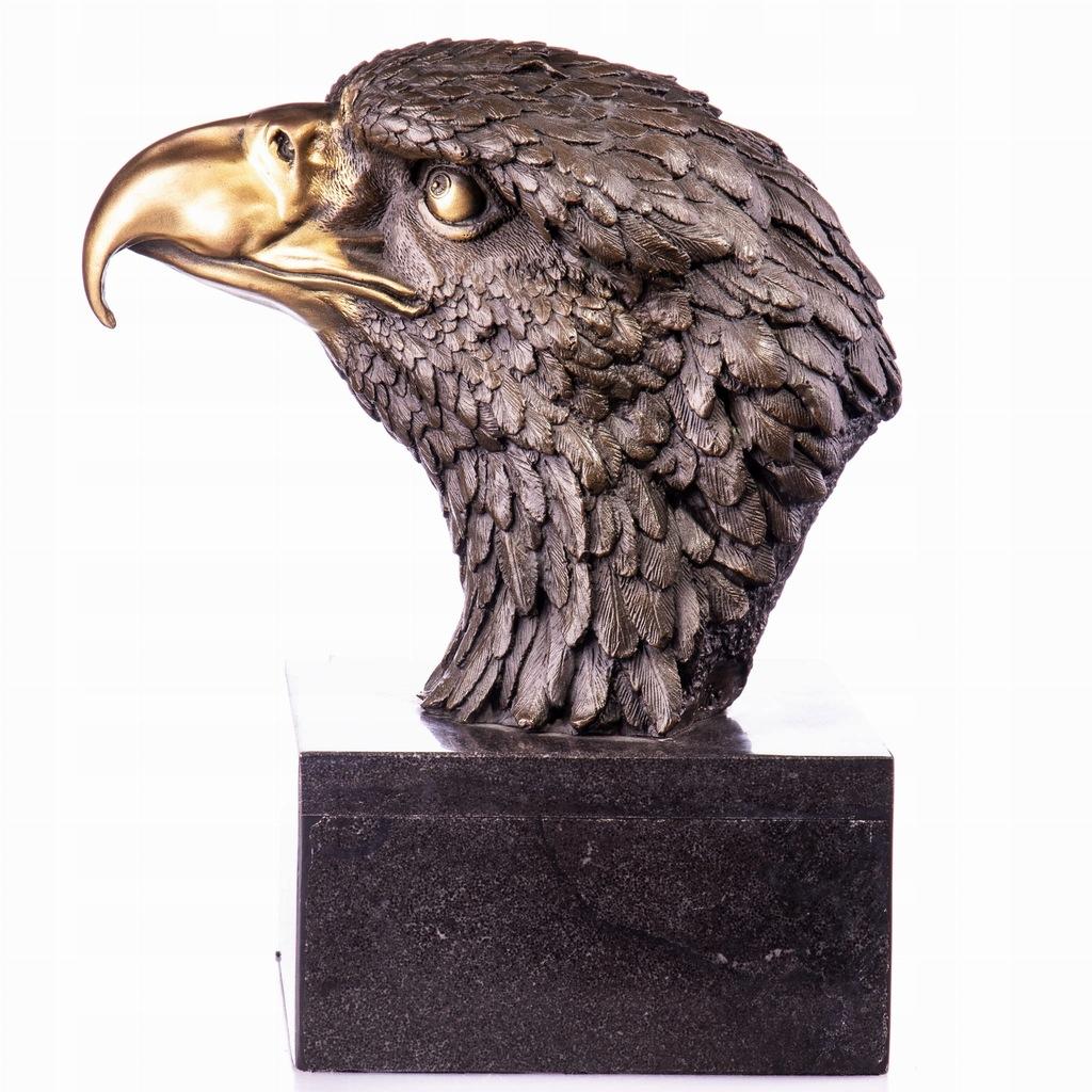 Dekoracyjna Figura z Brązu Rzeźba Orzeł Art Deco