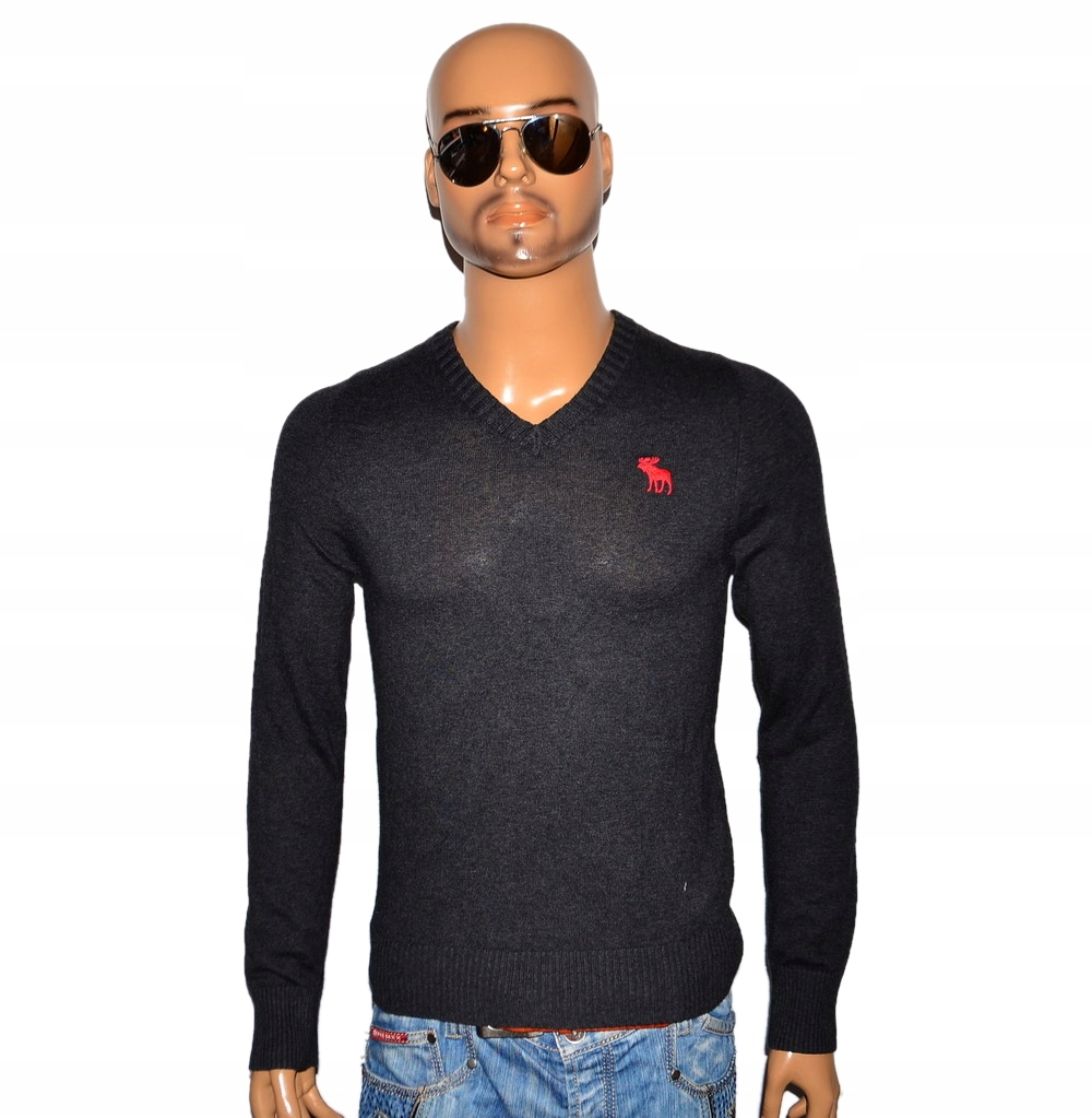 ABERCROMBIE&FITCH SWETER KASZMIR MUSCLE - S