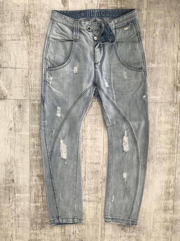HUMOR SPODNIE przecierane męskie jeans W32L34