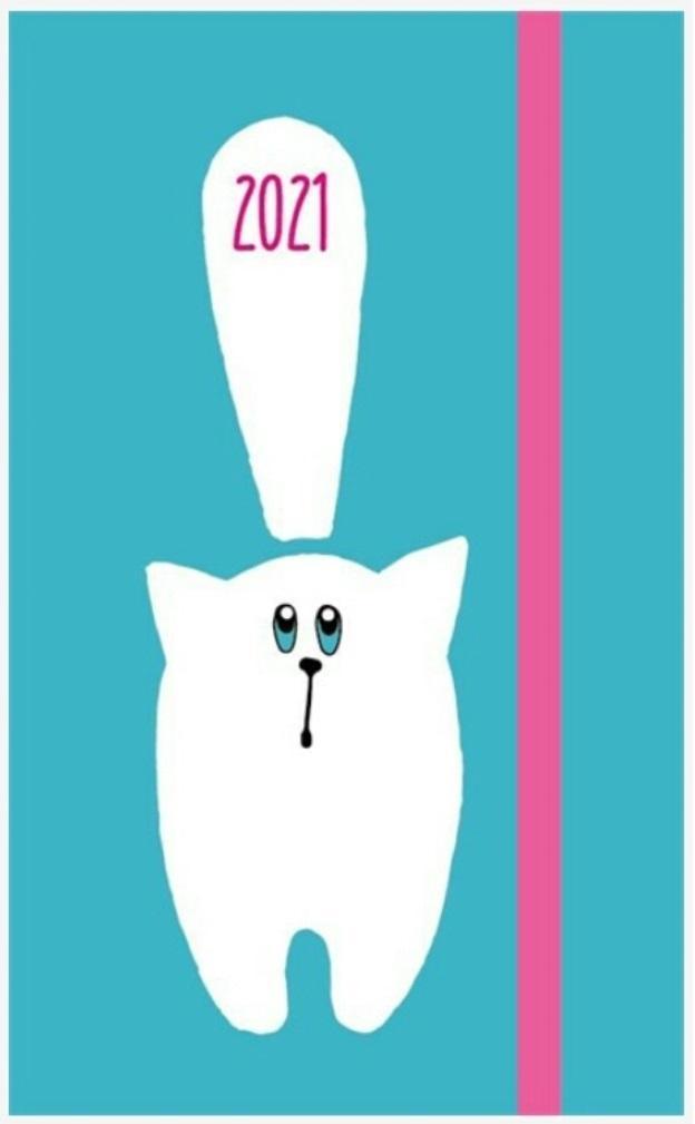 Kalendarz kieszonkowy A6 2021 Kot ALBI Albi