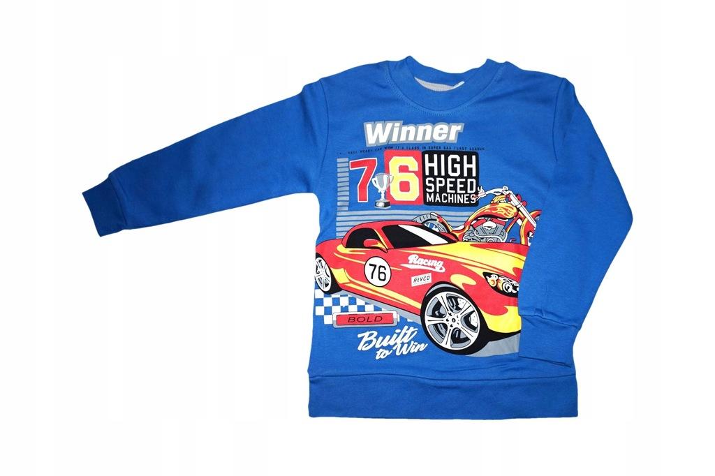 bluzka bluzeczka rękaw 104/110 bluza auta wyścigi