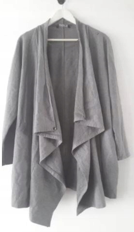 Narzutka płaszcz TOP SECRET oversize szary luźny