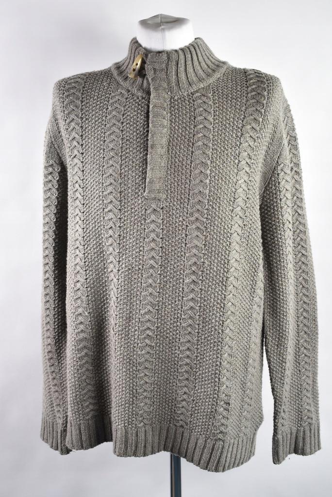 Jasnobrązowy sweterek lambswool męski r.M/L