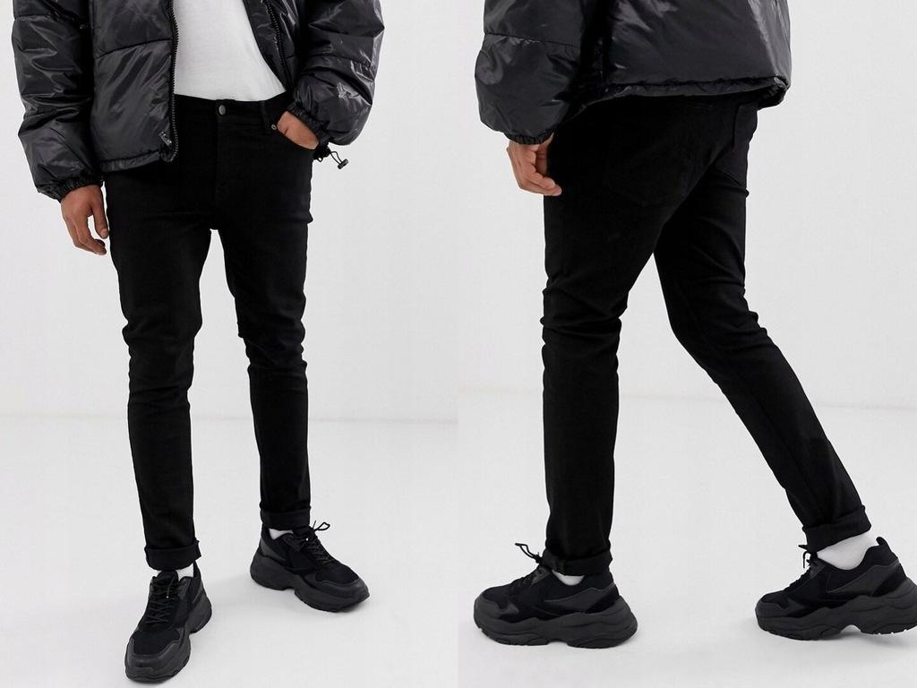 Cheap Monday - Obcisłe dżinsy czarne W31 L32