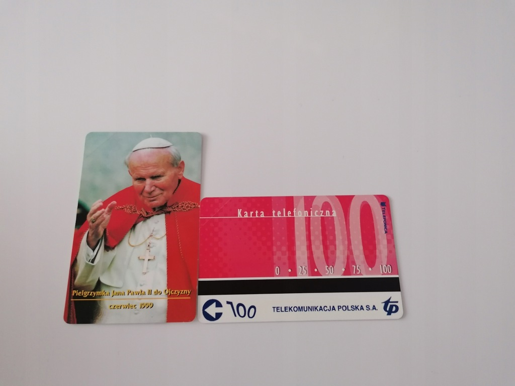 Karta kolekcjonerska PEŁNA JP II 100 IMP