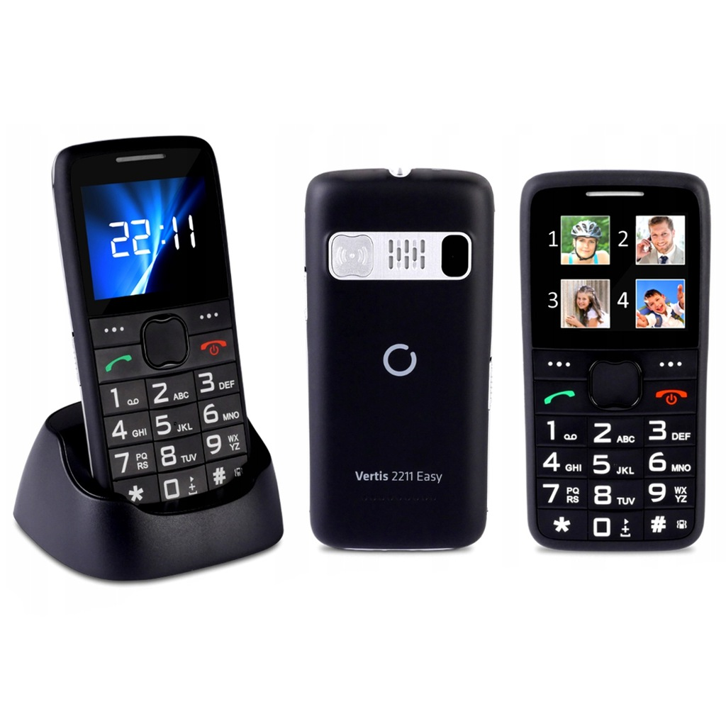 TELEFON DLA SENIORA OVERMAX VERTIS 2210 KAMERA SOS