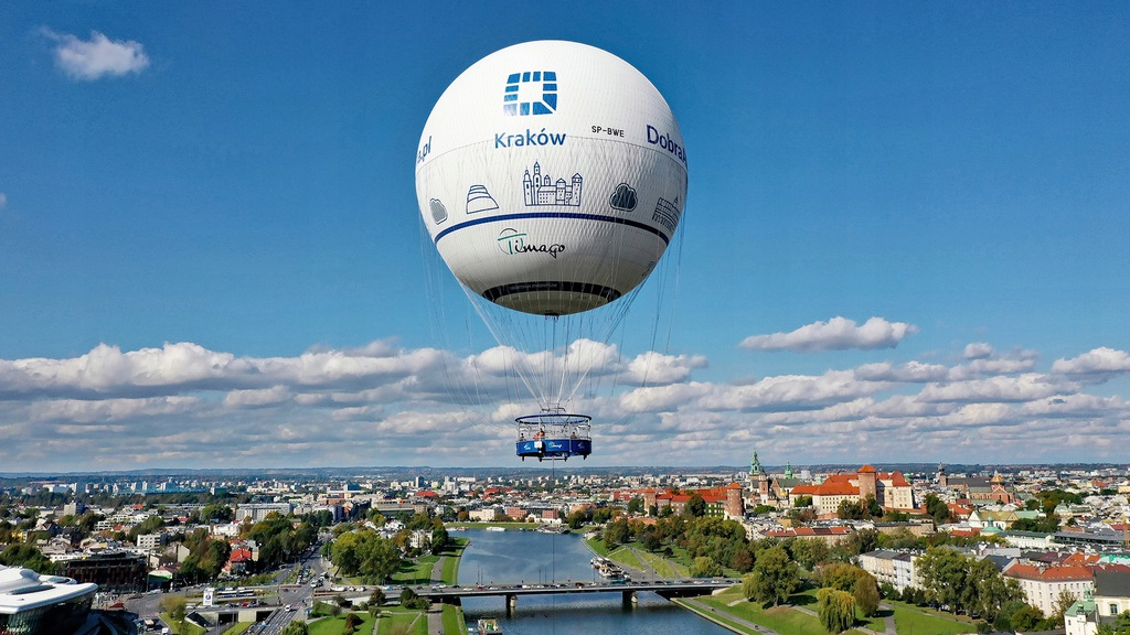 Ekskluzywny lot balonem nad Krakowem z szampanem!