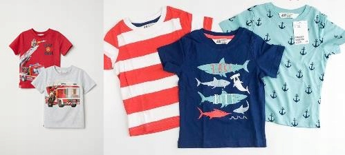 T-shirt 5 szt koszulki H&M r. 110/116
