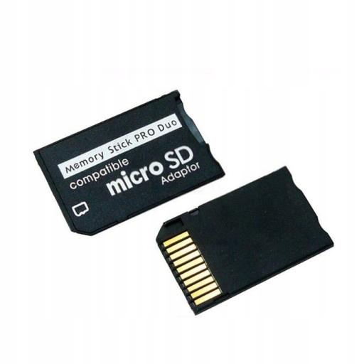 8x adapter MS PRO DUO z microSD zestaw 8szt.