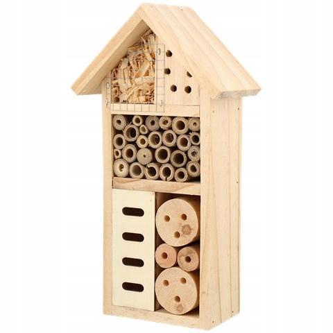 DOMEK HOTEL dla pszczół owadów BUDKA KARMNIK