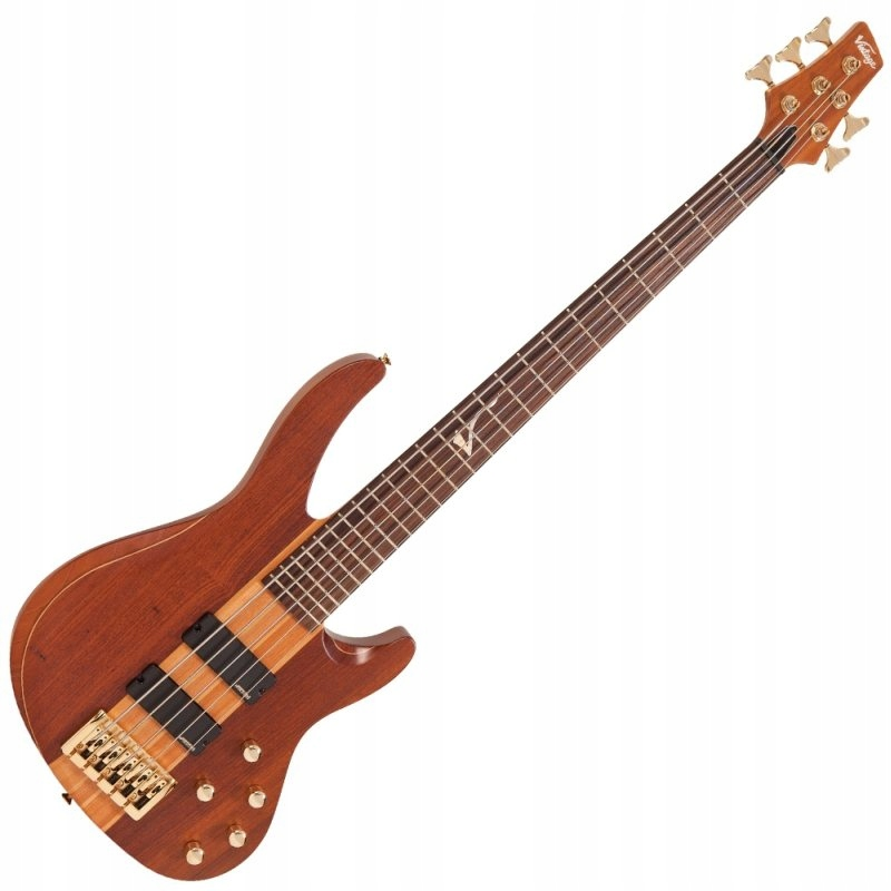 VINTAGE V10005B NECH-BUBINGA gitara basowa pokrow