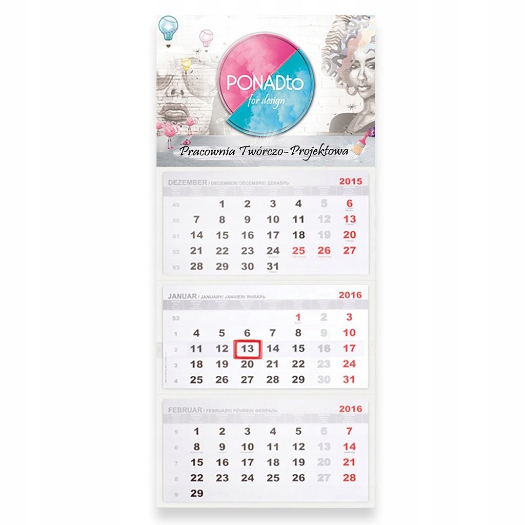 Kalendarze Trojdzielne 10 Szt Projekt 7630586880 Oficjalne Archiwum Allegro