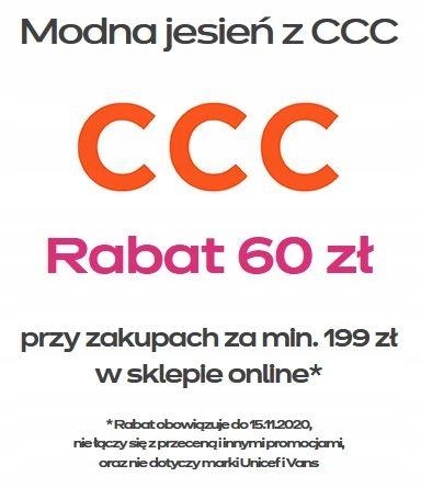 CCC - 60 zł kod rabatowy bon voucher kupon e-sklep