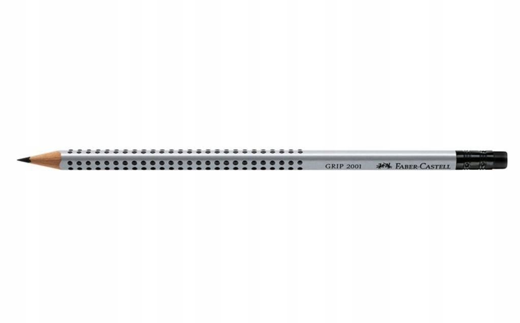 Ołówek Grip 2001/B z gumką (12szt) FABER CASTELL